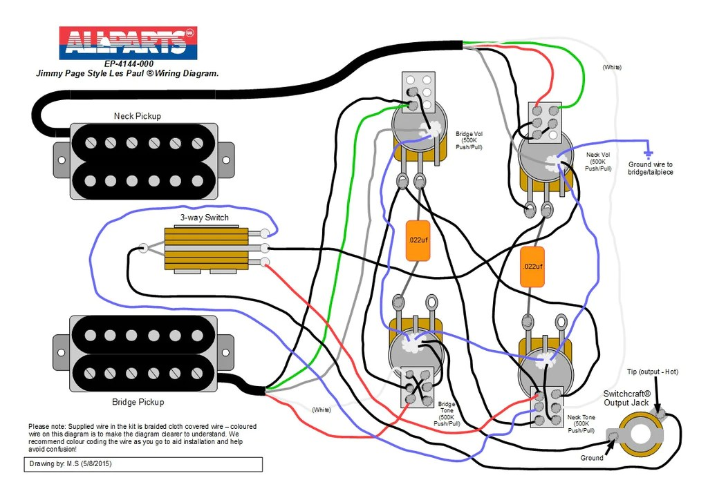 Wiring kit  Jimmy Page Les Paul® Style | Allparts UK
