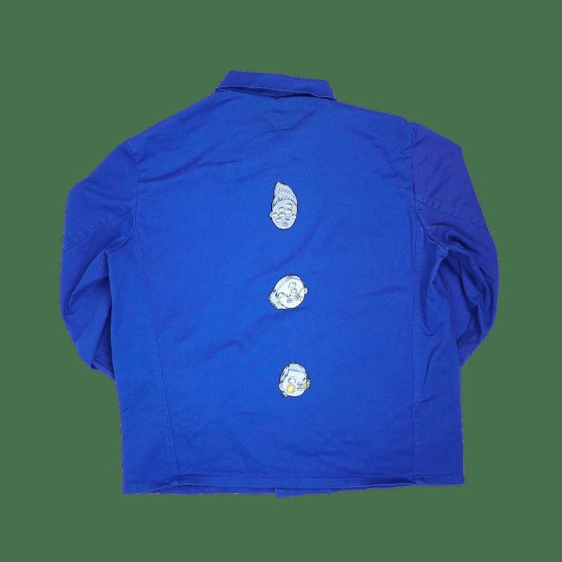 veste i bleu de travail vintage 4 patchs brodes