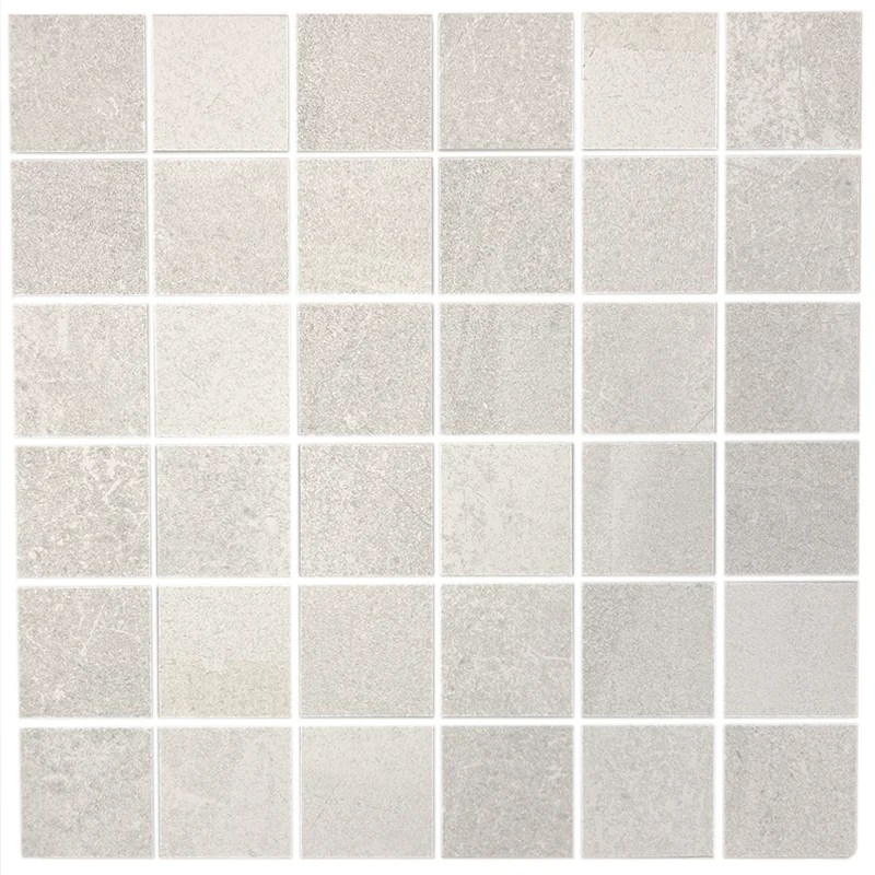 grain 2x2 mosaic white porcelain tile
