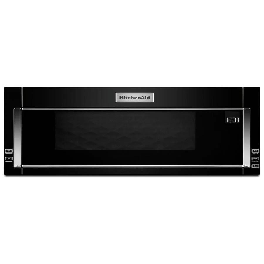 kitchenaid 1 1 cu ft over the range microwave in black ykmls311hb