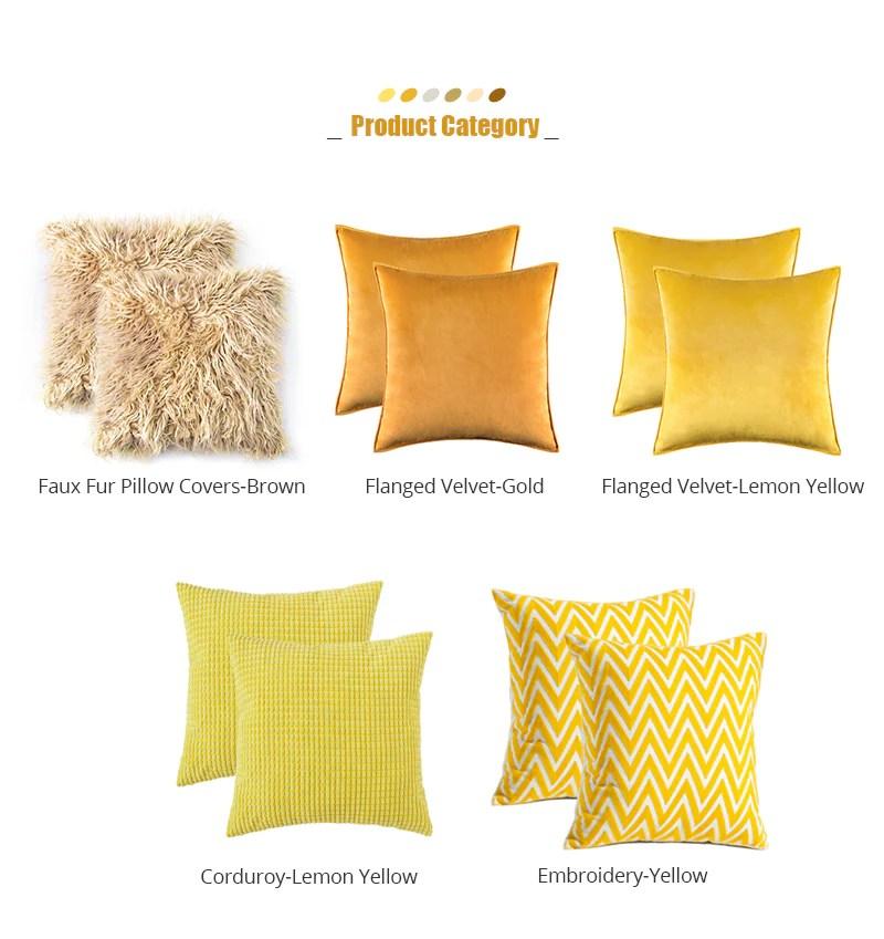 gemini set meal miulee yellow throw pillow covers
