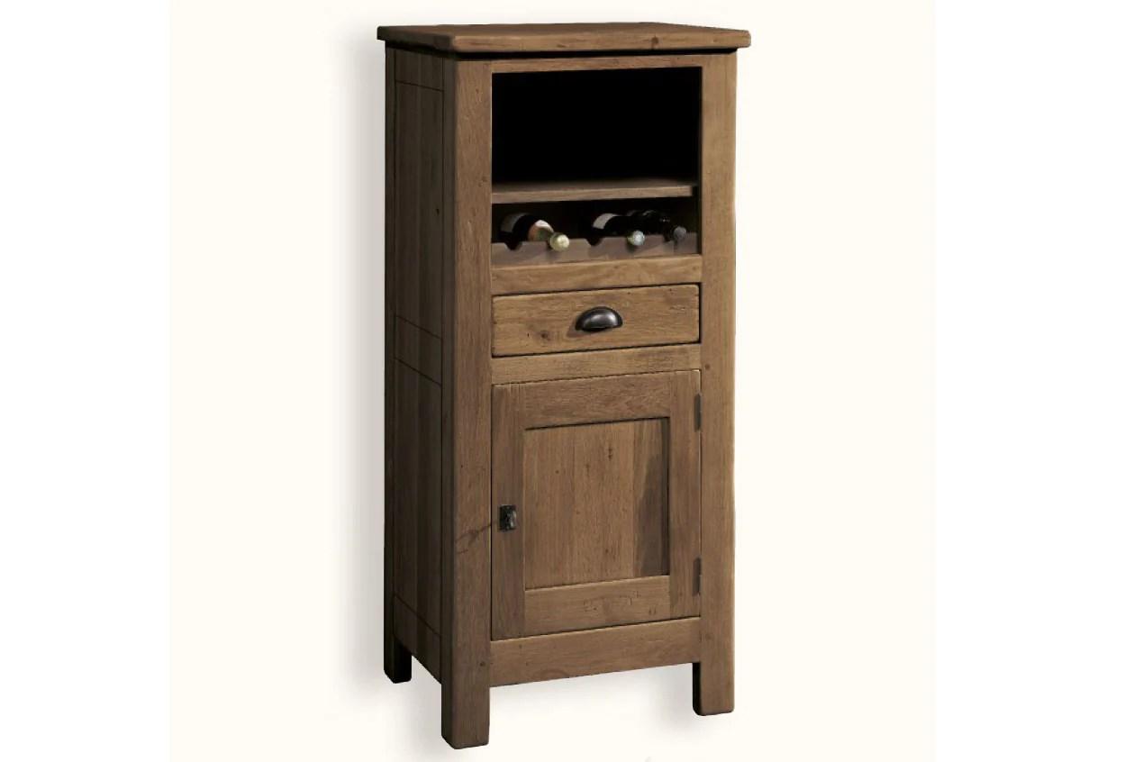 French Mountain Oak Alpine Range Bookcase Low With Cupboard