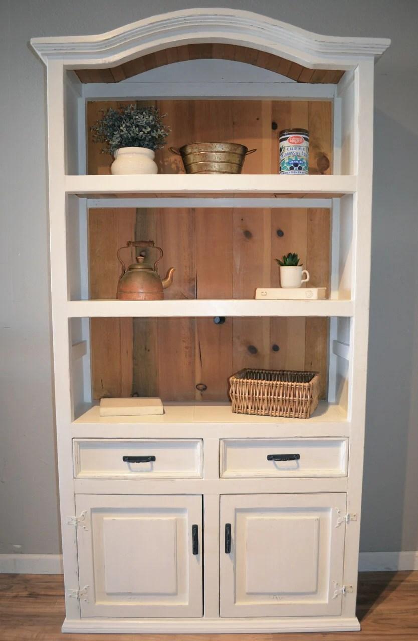 Rustic Farmhouse Hutch Bookcase Hutch