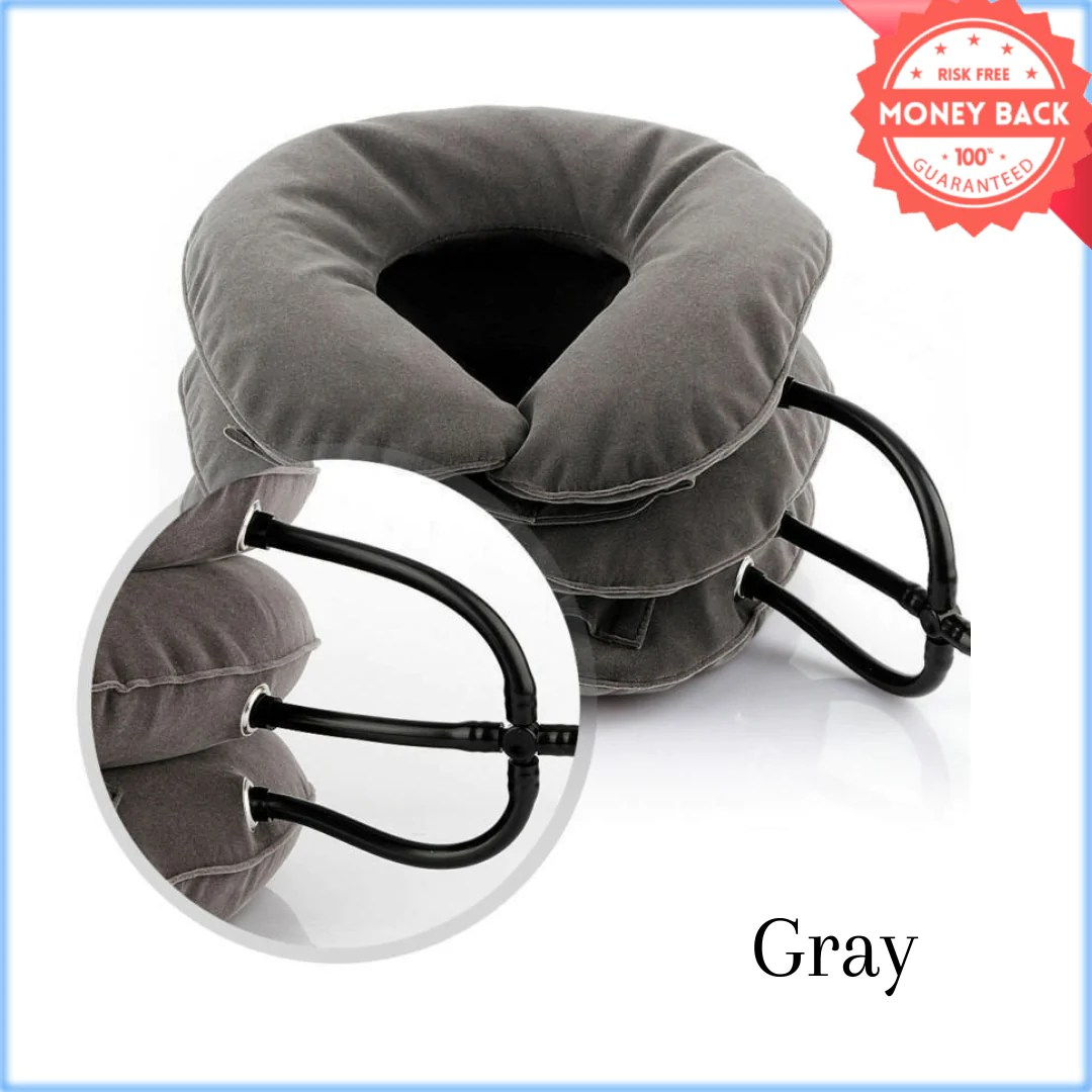 cervical neck traction device for instant neck pain relief inflatable adjustable neck stretcher neck support brace best neck traction pillow for