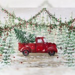Red Truck Christmas Intuition Backgrounds Heidi Hope