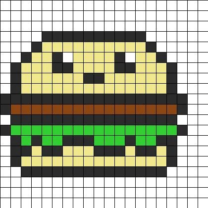 beaux pixels art kawaii nourriture