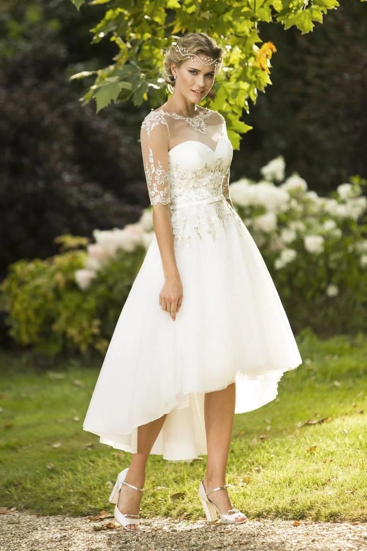 Tea Length Wedding Dresses 50s Short Wedding Dress