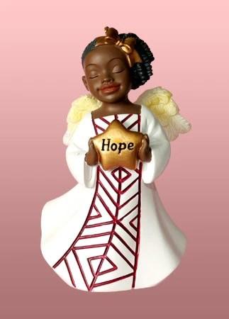 Angel Ornament Figurine Hope Its A Black