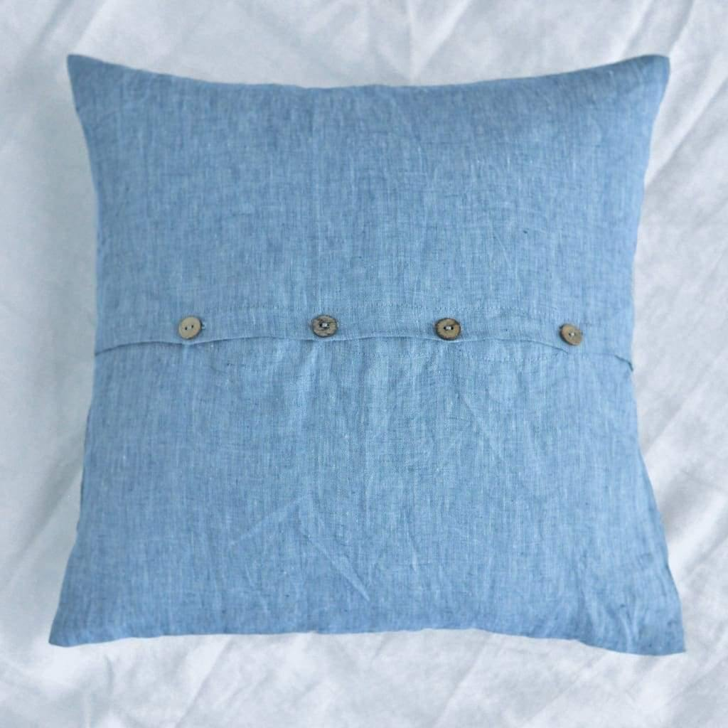 square cushions covers 100 natural belgian flax linen in 5 sizes 11 colors