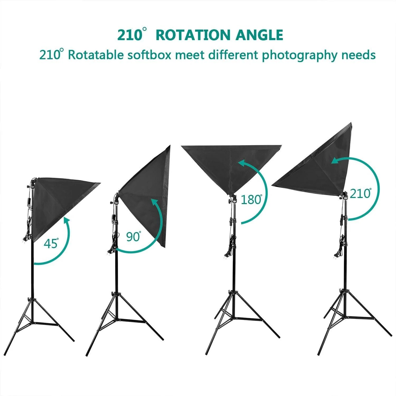 4x25w led continuous lighting kit 20 x28 50x70cm w softbox photo studio set