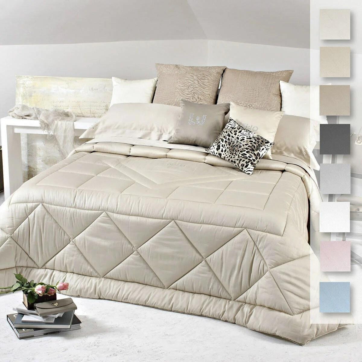 Scopri di più su liu jo casa! Liu Jo Winter Quilt For Double Bed Tellaro In Cotton Satin S320 Passarelli Biancheria