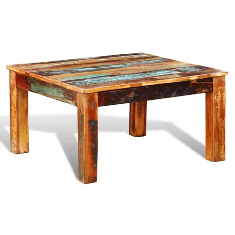 coffee table square reclaimed wood
