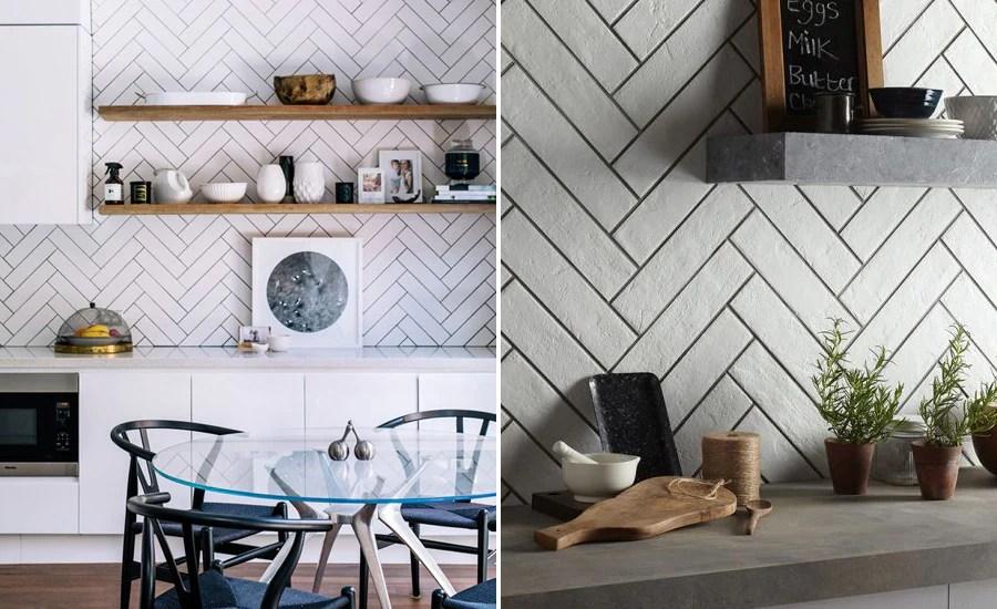 different ways with herringbone tiles