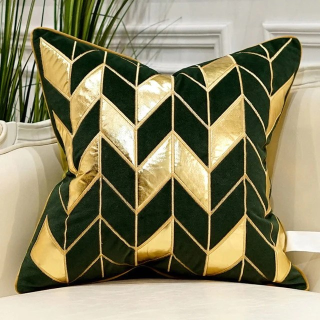 avigers forest green luxury cushion covers