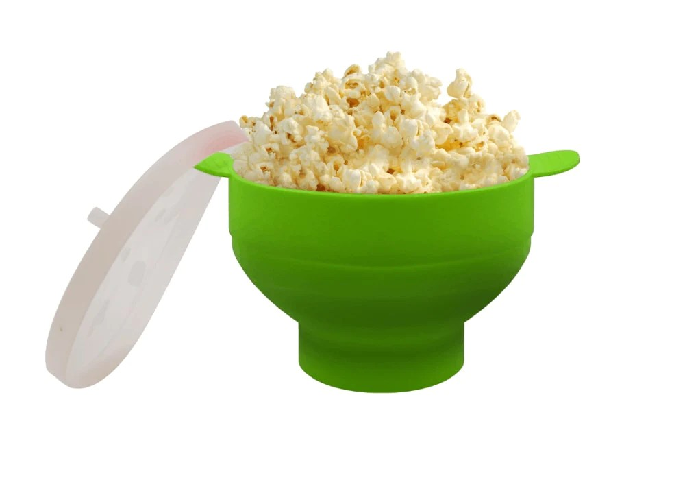 foldable silicone microwave popcorn