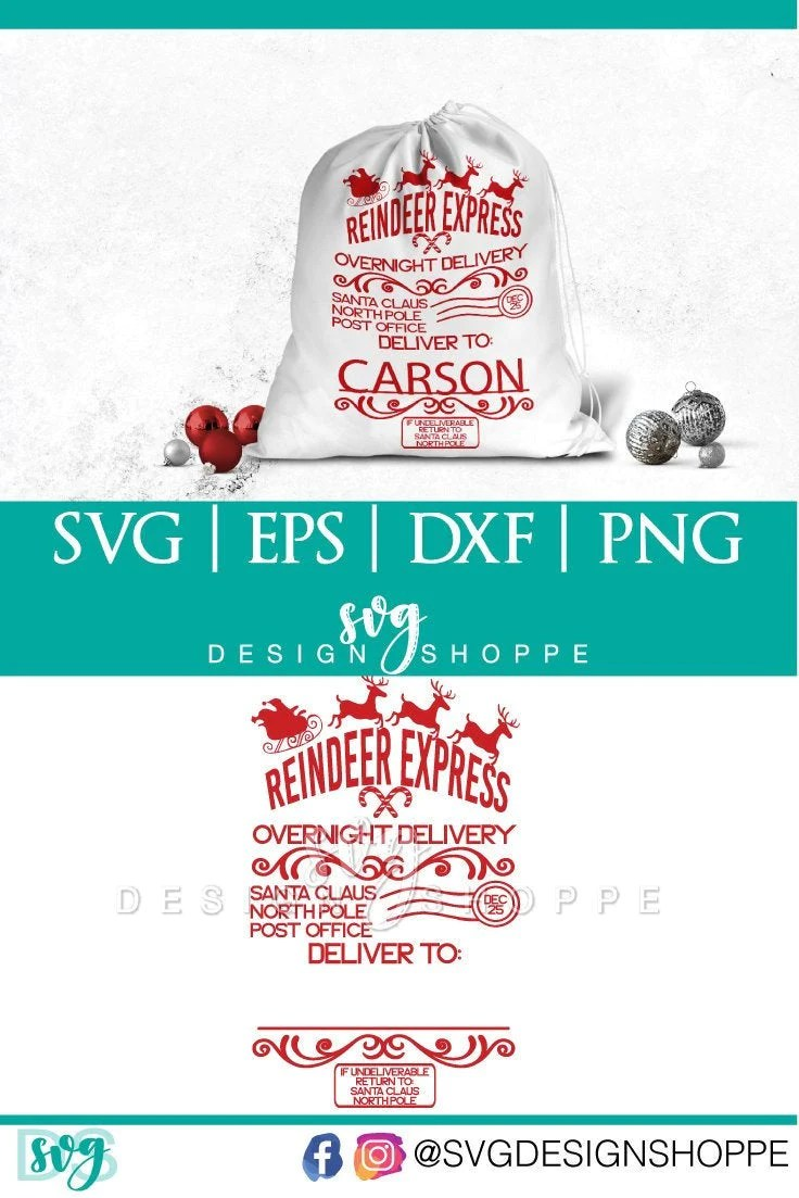 Decorate your laptops, water bottles,. Santa Labels Christmas Svg Svg Design Shoppe