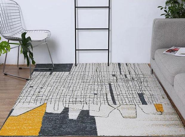 tapis scandinave moderne gris maison