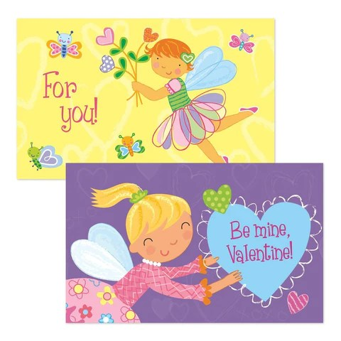 Peaceable Kingdom FAIRY Valentine Heart Pack 20 Cards