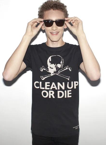 CLEAN UP OR DIE Men's T-Shirt