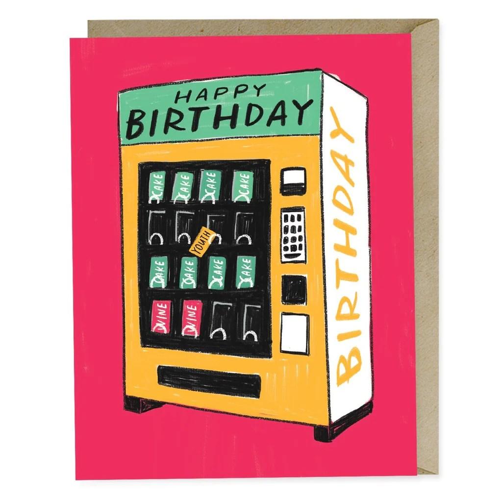 Happy Birthday Vending Machine Card Emily McDowell Studio