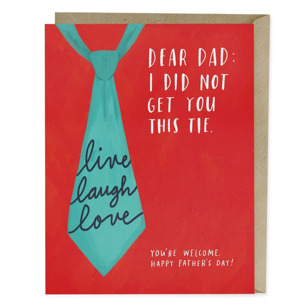 Live Laugh Love Tie Father's Day Card | Emily McDowell Studio