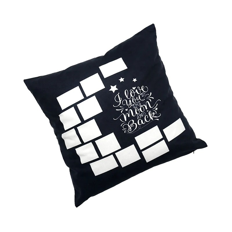 i love you to the moon and back sublimation pillow case