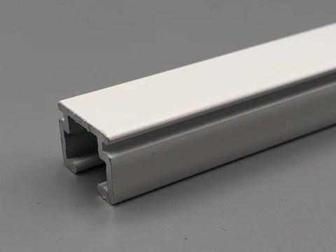 metal mini m uncorded track complete curtain track kit white aluminium med light duty