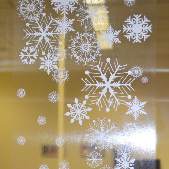 39 Snowflake Decal Borders Window Flakes