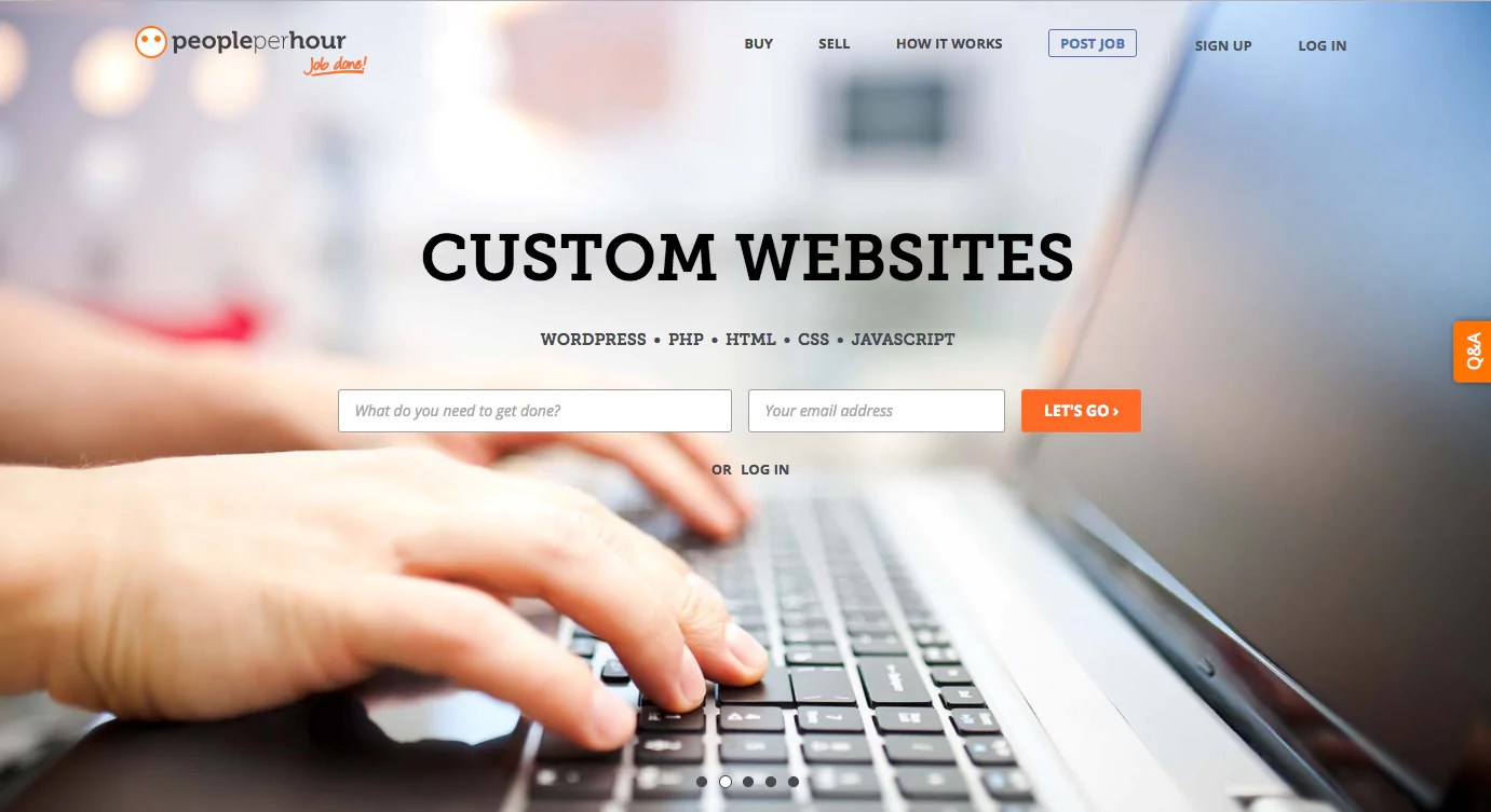 Finding web design clients: PeoplePerHour