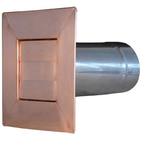 copper low profile louvered dryer vent exhaust vent 4 12