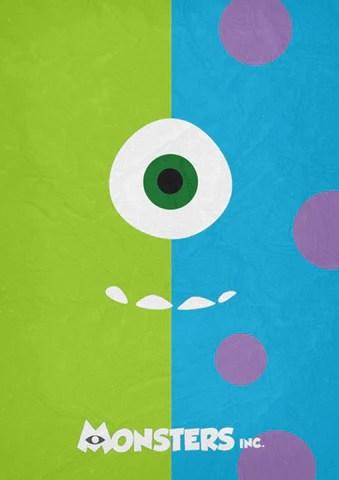 monsters inc minimal poster