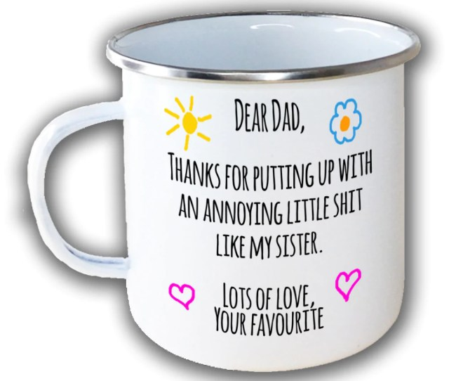 Dear Dad Annoying Little Shit Brother Sister Siblings Love Your Favourite Enamel Metal