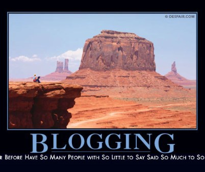 Blogging, summed up