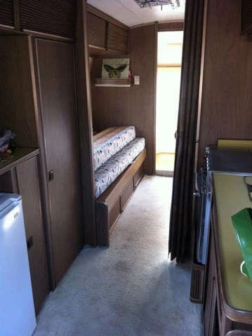 Before the makeover of the airstream caravan