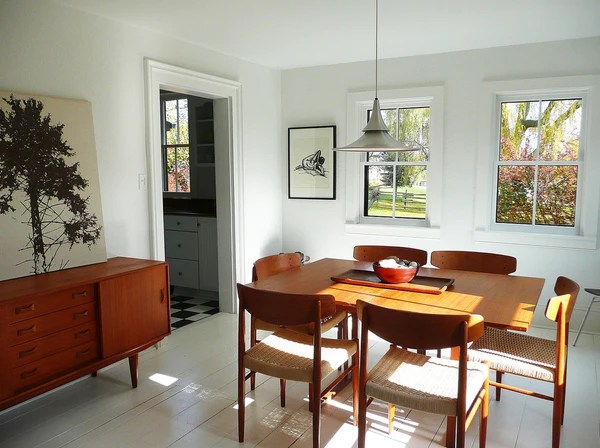 Victorian Modern Furniture Mid Century Dining Set In Swedish Cottage D