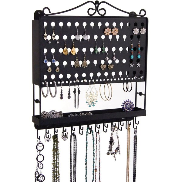 earring holder necklace organizer for long necklaces ear studs dangle earrings jewelry storage rack accessory angel