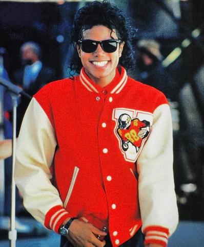 Celebrity teddy varsity jacket Michael Jackson