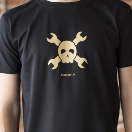 Hackaday.io Gold Logo Tee