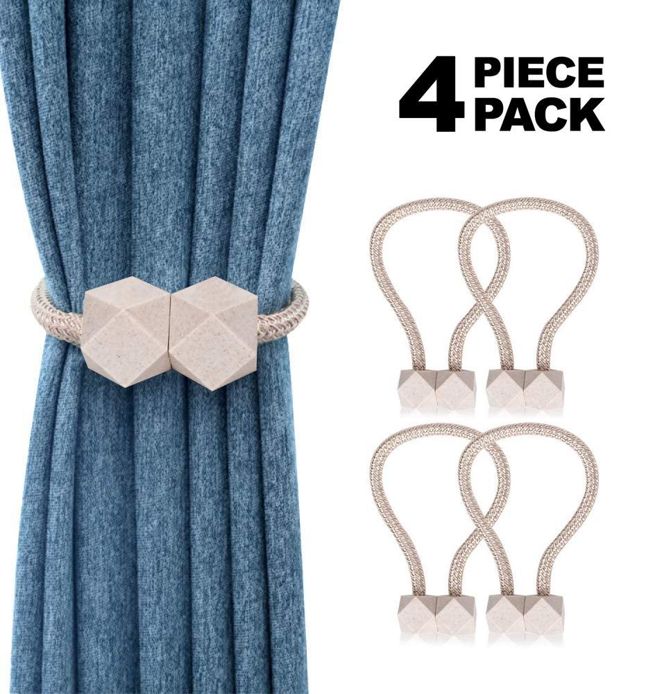 the magnetic curtain holders 4pcs cenut