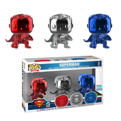 Funko Pop Three Pack NYCC Exclusive Superman