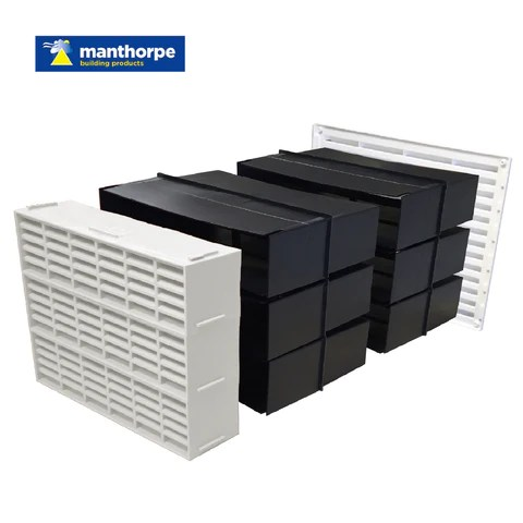 9 X 9 Extendable Cavity Wall Sleeve Gas Heating Vent