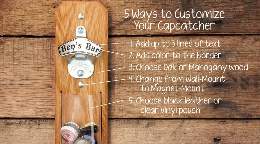 Personalized Wall Mounted Bottle Openers Capcatchers