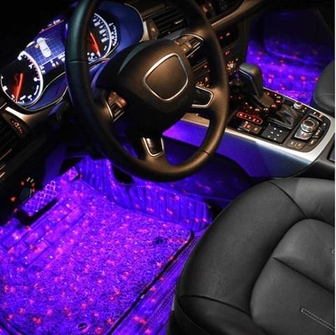 car interior ambient lights discocar