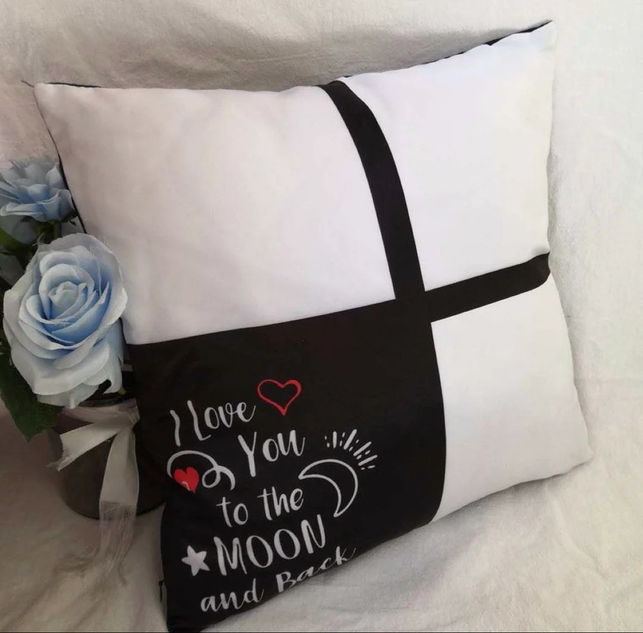 4 panel i love you to moon and back pillow cover
