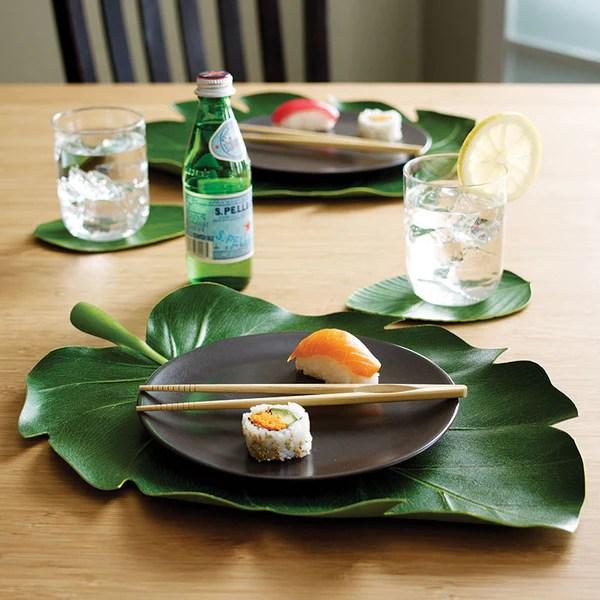 BaliHai Tropical Banana Leaf Table Runner Zillymonkey
