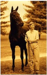 Sally Shirley with her race horse