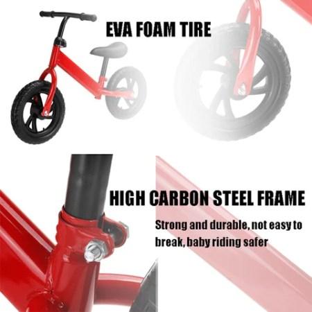 Kids Balance Bike No Pedal Toddler Bicycle With Adjustable Seat