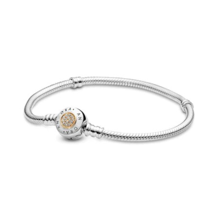 Genuine Pandora Charm Bracelet Love Heart Bracelet With Silver Chain
