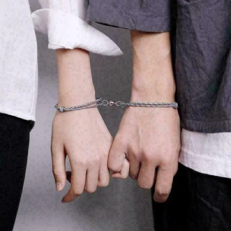 Magnetic Couple Bracelets Mutual Attraction Vows Of Eternal Love Bracelet