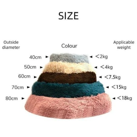 Plush Calming Cat Bed Fluffy Soft Warm Bed Sleeping Kennel Nest